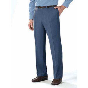 NWT Botany 500® Men's Smartwaist™ Blue Trousers